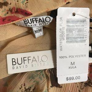 Buffalo David Bitton Dresses - NWT Buffalo butterfly splatter chiffon dress